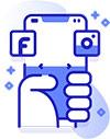 social media visual content services