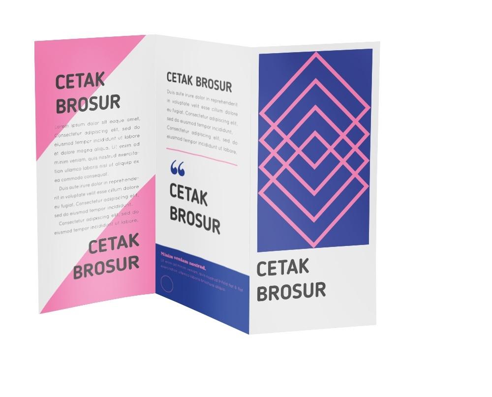 Cetak-Brosur menggunakan offset printing