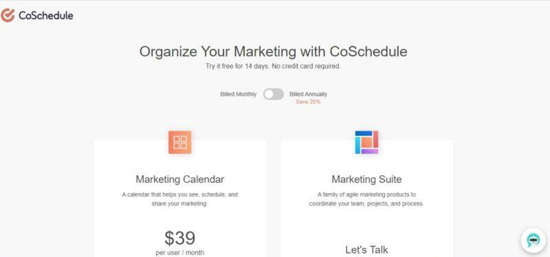 coschedule - social media marketing tools